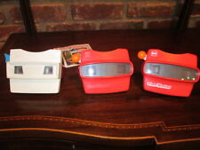 View-Master Viewer Lot of 3 GAF Viewmasters with Reels