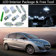 10PCS Xenon White LED Interior Car Lights Package kit Fit 2006-2010 Mazda 5 J1