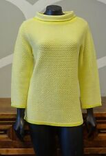 BODEN 10 Yellow Thermal Knit Boat Mock Neck Sweater - US 10 UK 14