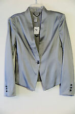 NWT Cache Silver One Button Dress Evening Blazer Size 6 MSRP $228