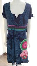 Dunkelblaues Kleid Desigual Gr. XXL mit Applikation NEU
