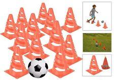 Set of 16 Traffic Marking Cones Football Training Practice Field Boundary Marker