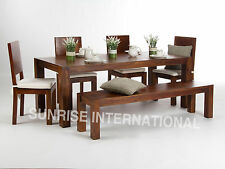 Monalisa Wooden Dining table (6ft approx.) with 4 chairs & 1 Bench furniture set