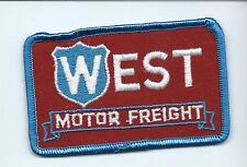 West Motor Freight driver patch PA co 2-1/2 X 3-7/8 #675