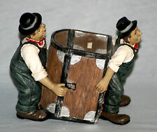 FUN LAUREL AND HARDY FIGURINES - MONEYBOX - TREASURE CHEST