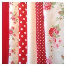 12 piece Bundle 100% Cotton 10cm SQ Floral Fabric, Incl Cath Kidston (CODE b15)