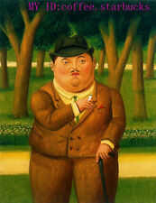 "Art Repro oil painting:""Fernando Botero Portrait at canvas"" 24x36 Inch #015"
