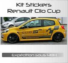 stickers autocollant adhésif automobile voiture : Kit Complet Renault Clio Cup