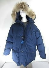 Vtg. Eddie Bauer Superior Polar Parka Goose Down Coat Coyote Fur Mens Size XL