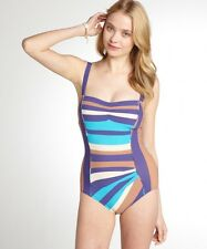 MARC BY MARC JACOBS Vintage Stripe Maillot One-Piece Sz S New