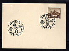 1940 Stettin Germany postcard Cover Stamp Day