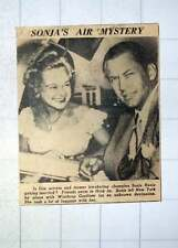 1949 Suspicions That Sonia Henie Intends To Marry Winthrop Gardiner