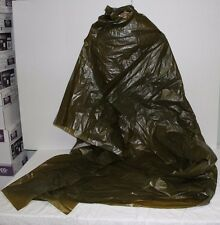 Military Army Norwegian Emergency Survival Green OD Poncho Shelter Large 5 x 4
