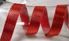 "Jacquard Ribbon 1"" (25mm) Metallic Chevron *Colors* 3 Yards & Up!"