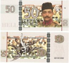 Bank Of Damned Souls 50 Souls 2014 UNC Fantasy Banknote - E Pasha - Demons Hell