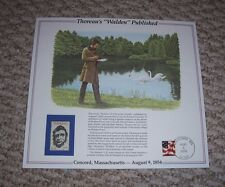 Henry David THOREAU'S WALDEN PUBLISHED Life in the Woods Print Stamp