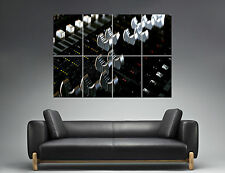 Dj Mixer Faders Table  Wall Art Poster Grand format A0 Large Print