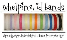 *NEW* ID Bands Whelping Collars FLEECE Puppy Kitten 12 Colors BRIGHT/ DARK  ONLY