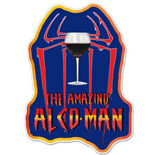 "The Amazing Alco-Man Alcohol car bumper sticker decal 6"" x 4"""