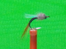 Johnny Flash  Midge Emerger Fly (sz.20  Black with Flash Wing) HOT PATTERN