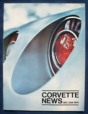 Prospekt brochure Corvette News Dec / Jan 1974 (USA)