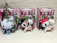 Tokidoki x Hello Kitty Unicorno Frenzies ROBOT SAKURA STELLINA Phone Strap Set