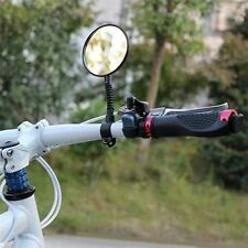 1pc Bike Bicycle Handlebar Flexible Rear Back View Rearview Mirror Black FE