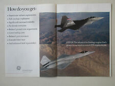 1-4/1991 PUB GENERAL ELECTRIC AIRCRAFT ENGINE F120 ATF FIGHTER YF-22 YF-23 AD