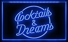 BB068 B Cocktails & Dreams Bar Beer Wine Pub LED Light Sign