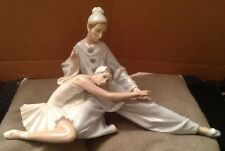 Retired Lladro Figurine/Ornament Ballerina & Jester Closing Scene #4935