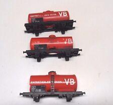 S 9 )  3 wagons nettoyeur de voie JOUEF ref: 6495   train electrique HO