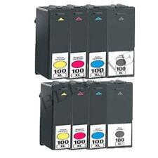 8 CARTUCCE 100XL PER LEXMARK Pro905 Pro805 Pro705 Pro205 S605 S815 Genesis