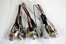 3set EMG SwitchCraft Stereo Jack Guitar/Bass Solid Core Cloth Wire Made USA #