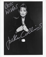 """JACKIE COLLINS hand signed autographed 8x10 photo ] photograph """"Best Wishes"""""""