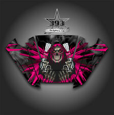 Arctic Cat Wildcat Trail Graphic Decal Kit Wrap Hood Unleashed Black Pink