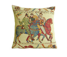 Belgian Tapestry Decorative Throw Pillow Cover 16x16 Bayeux Mont St Michel