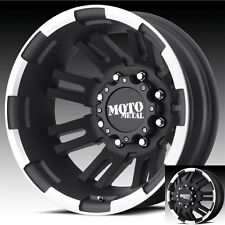 17 Inch Black Wheels Rims Dodge RAM 3500 Chevy Silverado Ford F350 Dually 8x6.5