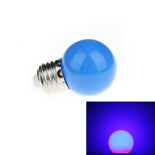 Blue Mini Colorful 1W E27 AC 220V LED Light Round Lamp Globe Golf Bulb CLUS