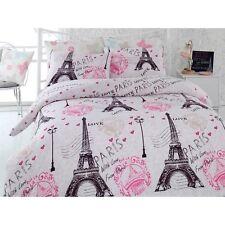 Paris Eiffel Tower Love Bedding Duvet Quilt Cover Set Single Size DHL EXPRESS