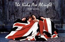 THE WHO POSTER ~ HORIZONTAL KIDS ARE ALRIGHT 24x36 Music Flag Pete Townshend