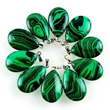 10pcs Beautiful Malachite Teardrop Pendant Bead BBSD8