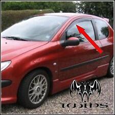 Deflettori Aria Antiturbo Oscurati Peugeot 206 3 porte anche 206 Plus