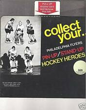 1975 Hockey Heroes Display Box Panel, Philly Flyers Clarke, etc.