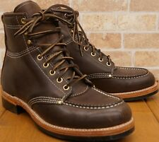 NIB Ralph Lauren RRL Clifton Boots Dark Brown US10.5D Made In USA, Store Display