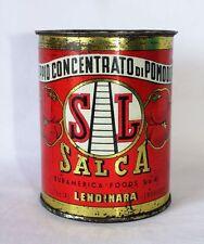 """Raro Barattolo in Latta Doppio Concentrato Pomodoro """"Salca"""" - Scatola Export"""