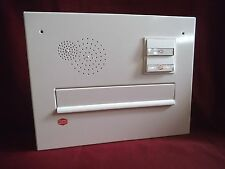 Frontplatte Renz Mauerdurchwurf Briefkasten weiß Klingel Licht Restposten MDH23