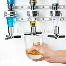 4-Bottle Bar Beverage Alcohol Dispenser Drink Whiskey Shot Party Wall Mounted