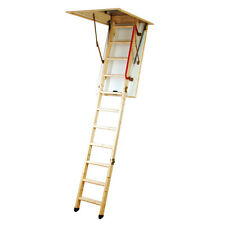 Eco Wooden Timber Folding Loft Attic Ladder Frame Insulated Draught Proof Hatch