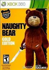 Naughty Bear -- Gold Edition (Microsoft Xbox 360, 2011) GOOD