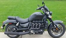 Triumph Rocket 3 Roadster classic blacked out performance exhaust black matte